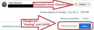 SaveTemporaryAccess